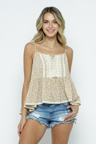 Floral Print Babydoll Top - La Mère Clothing + Goods