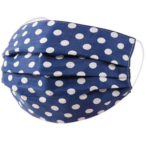 Blue Polka Dot Mask - La Mère Clothing + Goods