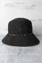 Load image into Gallery viewer, Reversible Black Leopard Print Bucket Hat - La Mère Clothing + Goods