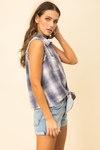 Plaid Tie Front Tank - La Mère Clothing + Goods