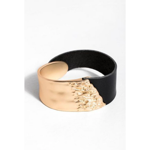 Black & Gold Cuff - La Mère Clothing + Goods