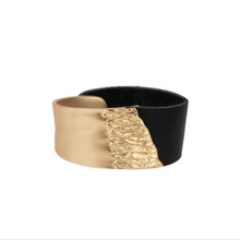 Load image into Gallery viewer, Black & Gold Cuff - La Mère Clothing + Goods