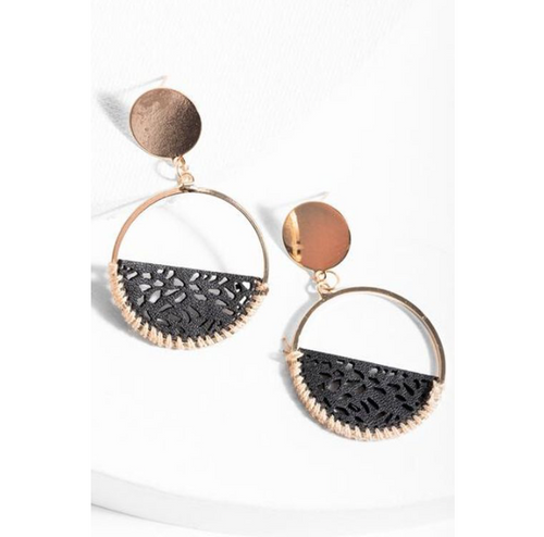 Laser Cut Leather Earrings - La Mère Clothing + Goods