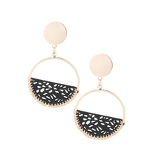 Load image into Gallery viewer, Laser Cut Leather Earrings - La Mère Clothing + Goods