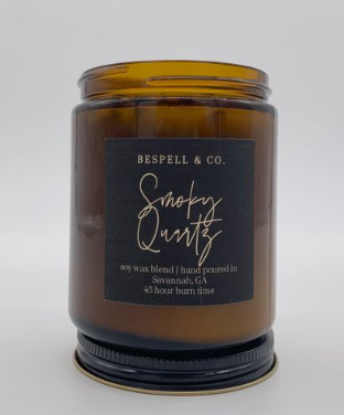 Smoky Quartz and Flower Candle - La Mère Clothing + Goods