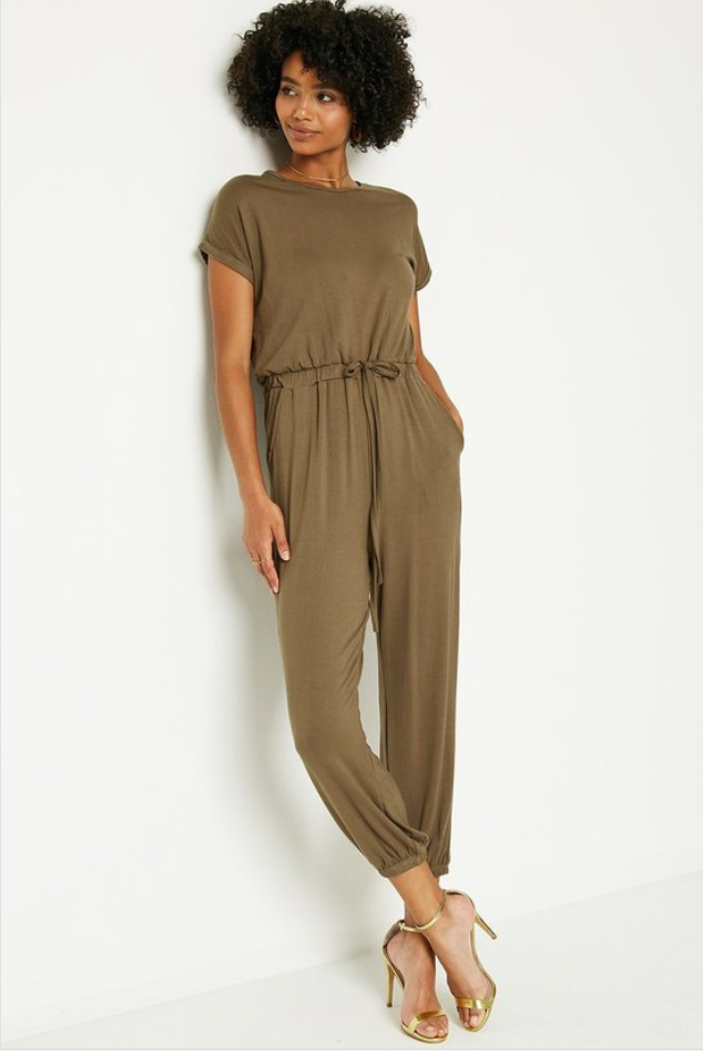 Army Green Knit Jumpsuit - La Mère Clothing + Goods