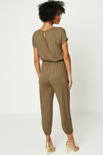 Load image into Gallery viewer, Army Green Knit Jumpsuit - La Mère Clothing + Goods