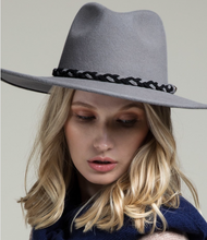 Load image into Gallery viewer, Grey Panama Hat - La Mère Clothing + Goods