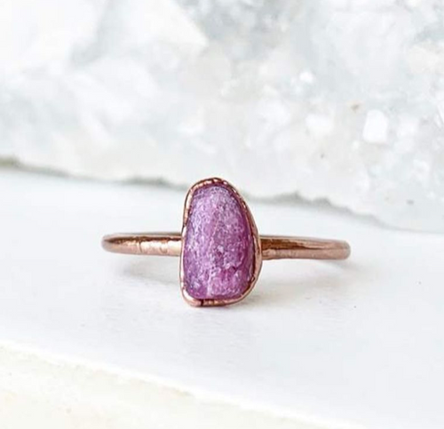 Raw Ruby Stacking Ring - La Mère Clothing + Goods