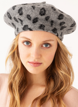 Load image into Gallery viewer, Leopard Print Beret - La Mère Clothing + Goods