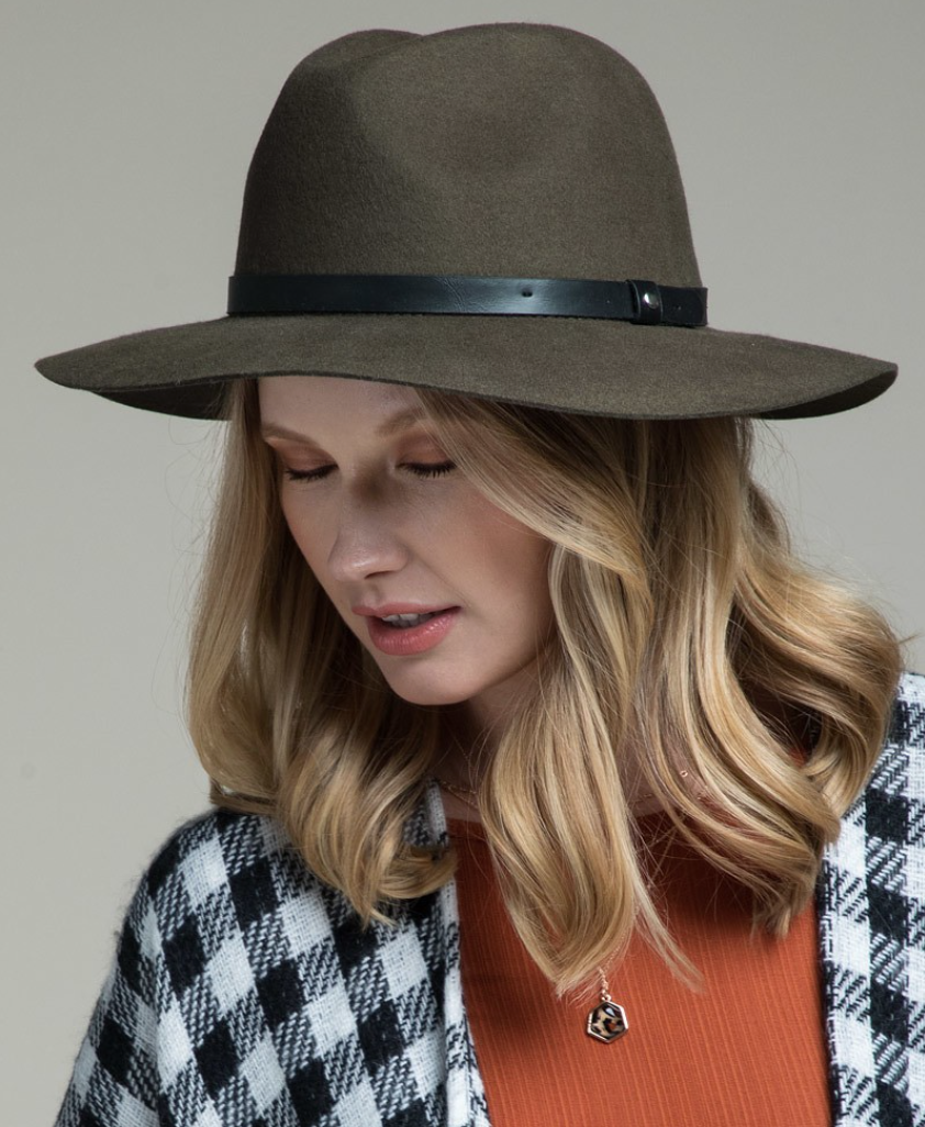 Olive Panama Hat - La Mère Clothing + Goods