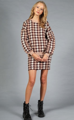 Houndstooth Sweater Seperates - La Mère Clothing + Goods