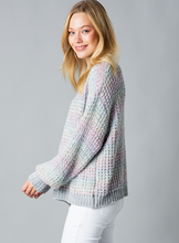Load image into Gallery viewer, Grey Rainbow Sweater - La Mère Clothing + Goods