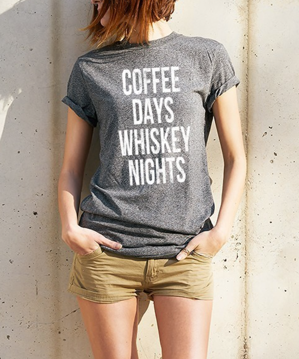 Coffee Days Whiskey Nights Tee - La Mère Clothing + Goods