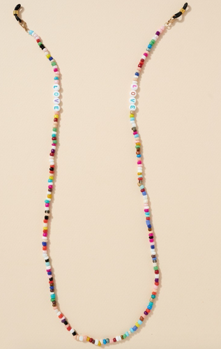 Love Bead Mask Chain - La Mère Clothing + Goods
