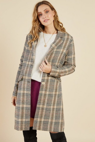 Sadie Plaid Jacket