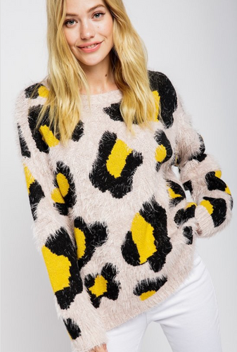Leopard Sweater - La Mère Clothing + Goods