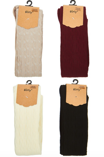 Ribbed Over the Knee Socks - La Mère Clothing + Goods