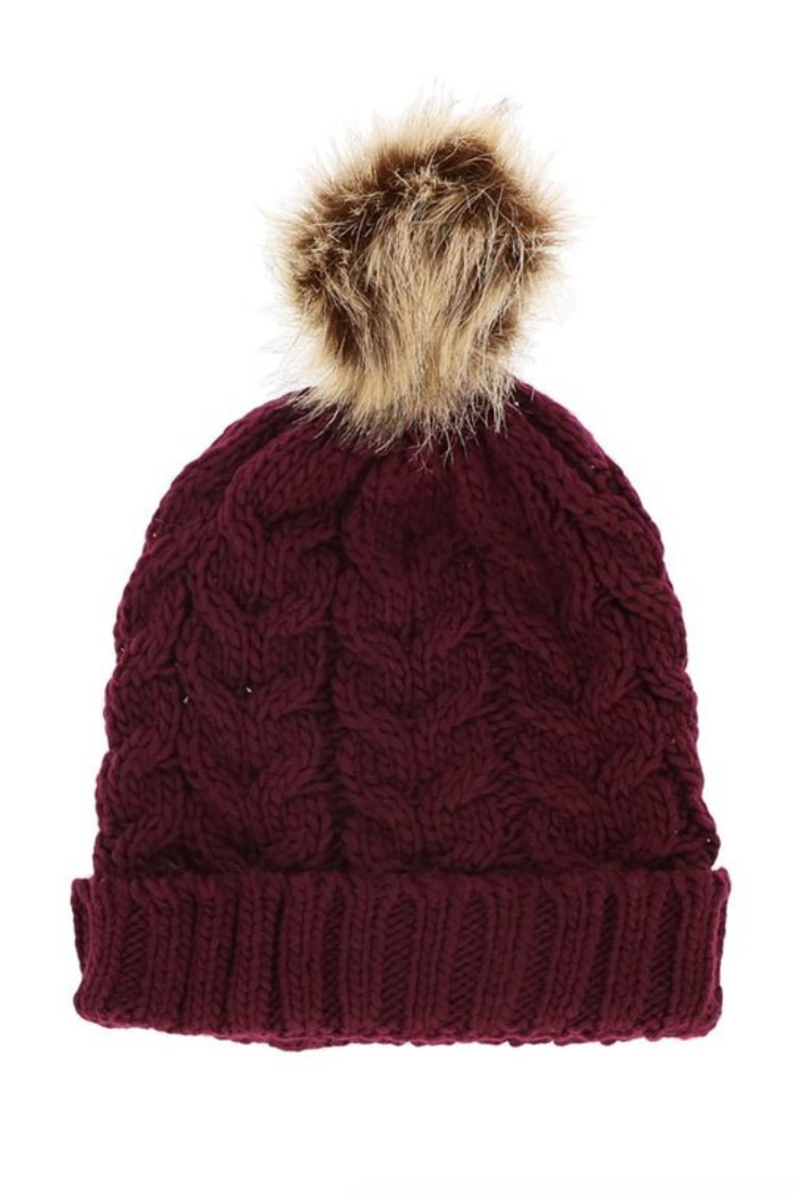 Chunky Pom Pom Hat - La Mère Clothing + Goods