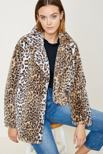 Faux Fur Car Jacket - La Mère Clothing + Goods