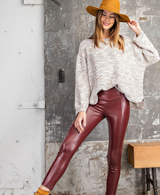 Load image into Gallery viewer, Faux Leather Legging - La Mère Clothing + Goods