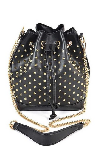 Studded Bucket Bag - La Mère Clothing + Goods