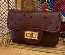 Load image into Gallery viewer, Mini Croc Crossbody Bag - La Mère Clothing + Goods
