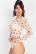 Load image into Gallery viewer, Sheer Floral Bodysuit - La Mère Clothing + Goods
