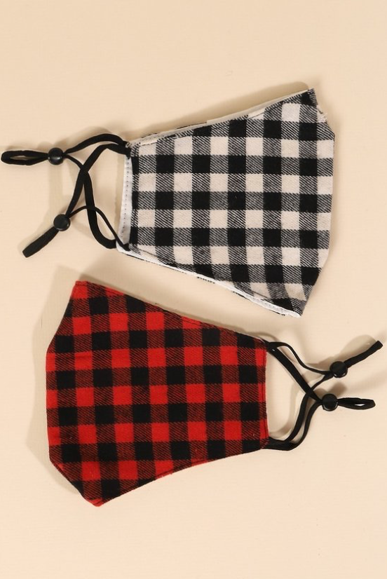 Buffalo Check Mask - La Mère Clothing + Goods