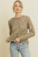 Load image into Gallery viewer, Dress Forum Pointelle Crew Neck Sweater - La Mère Clothing + Goods