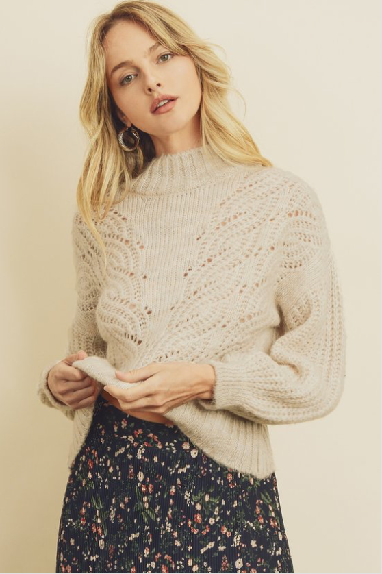 Dress Forum Pointelle Sweater - La Mère Clothing + Goods