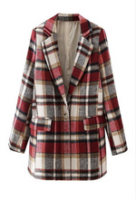 Load image into Gallery viewer, Sunday Long Plaid Blazer - La Mère Clothing + Goods