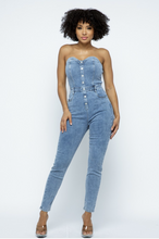 Load image into Gallery viewer, Denim Jumpsuit - La Mère Clothing + Goods