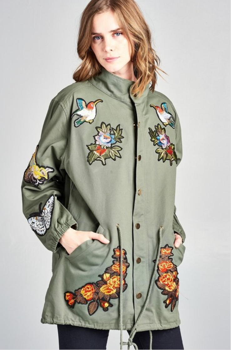 Blind Love Military Jacket - La Mère Clothing + Goods