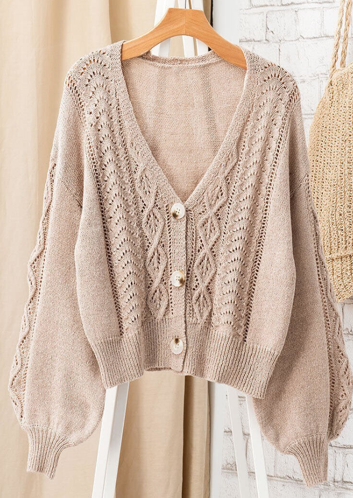 Cable Knit Button Down Cardigan - La Mère Clothing + Goods