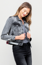 Load image into Gallery viewer, Distressed Patchwork Denim Jacket - La Mère Clothing + Goods