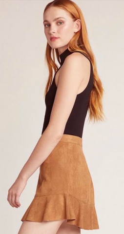 Whiskey Faux Suede Mini Skirt