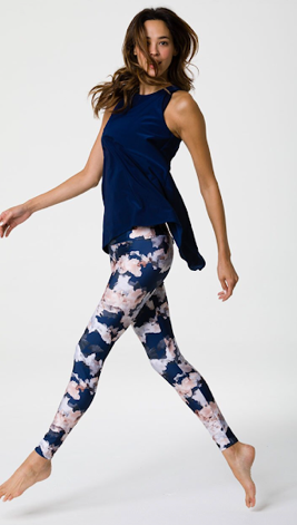 active wear high waist leggings navy floral print from Onzie