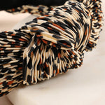 Pleated Leopard Headband - La Mère Clothing + Goods