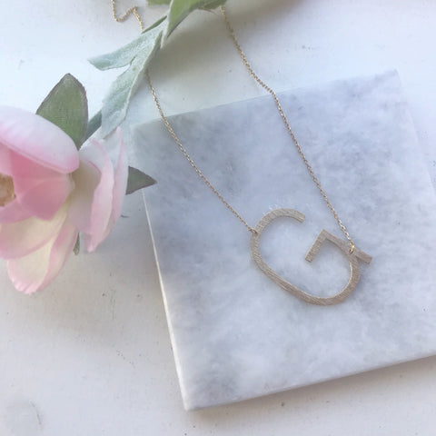 Initial necklace - La Mère Clothing + Goods