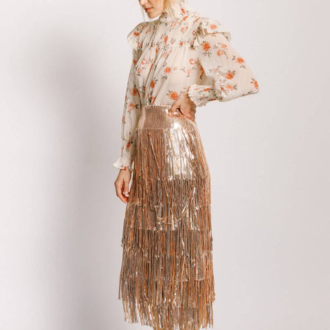 Sequin Fringe Skirt - La Mère Clothing + Goods