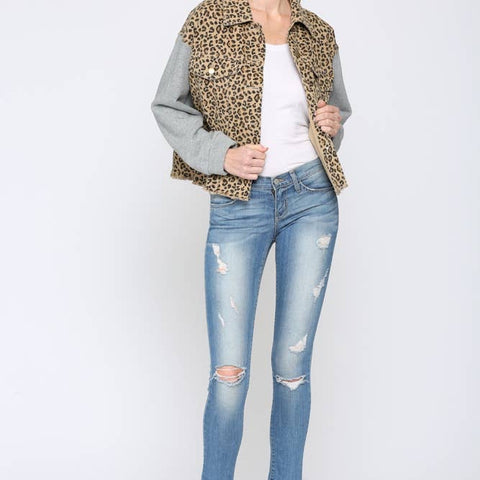 Leopard and Fleece Jacket - La Mère Clothing + Goods