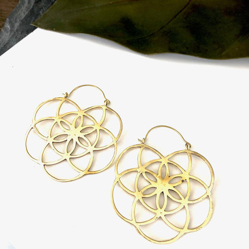 Clea Brass Earrings - La Mère Clothing + Goods