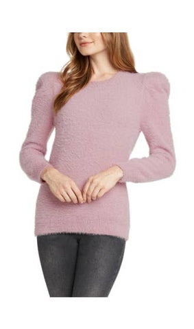 Puff Sleeve Fuzzy Sweater