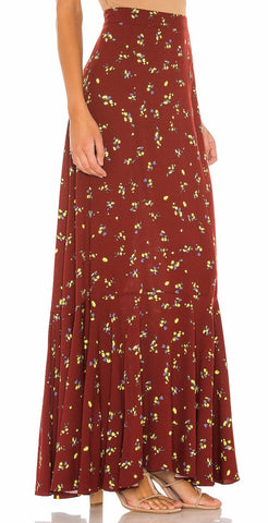 Printed Maxi Skirt - La Mère Clothing + Goods