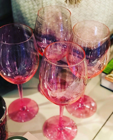 Hot Hot Hot Pink Wine Glasses