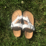 White Croc Sandals - La Mère Clothing + Goods