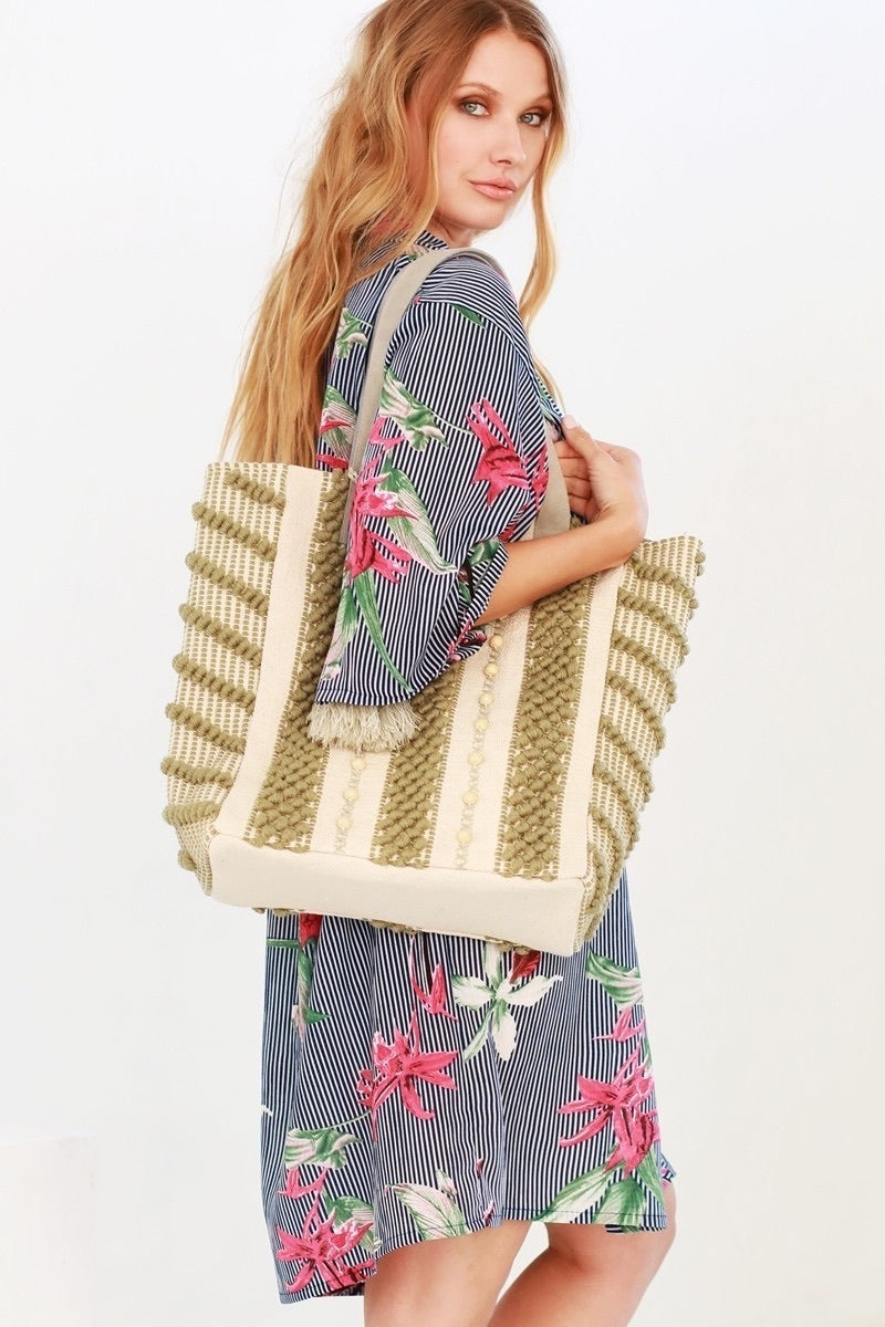 Hand Woven Crocheted Bag - La Mère Clothing + Goods