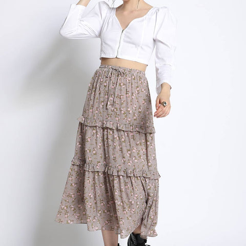 Floral Boho Skirt - La Mère Clothing + Goods