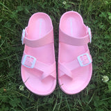 Light Pink Slides - La Mère Clothing + Goods